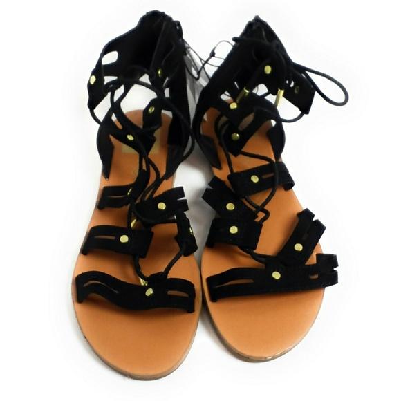 25587d3467d Gracelyn Black Gladiator Sandals Lace Up New DV. Boutique. Dolce Vita